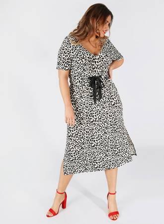 Φόρεμα Midi Leopard Maniags