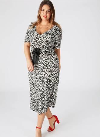Φόρεμα Midi Leopard pl4-02-174_3 Maniags