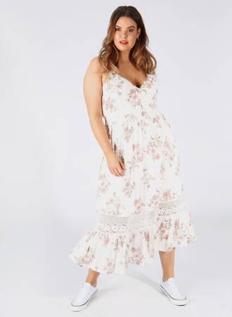 Φόρεμα Maxi Αμάνικο Φλοράλ Maniags