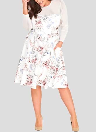 Φόρεμα Φλοράλ με Ιδιαίτερη Λαιμόκοψη riani_2 Maniags