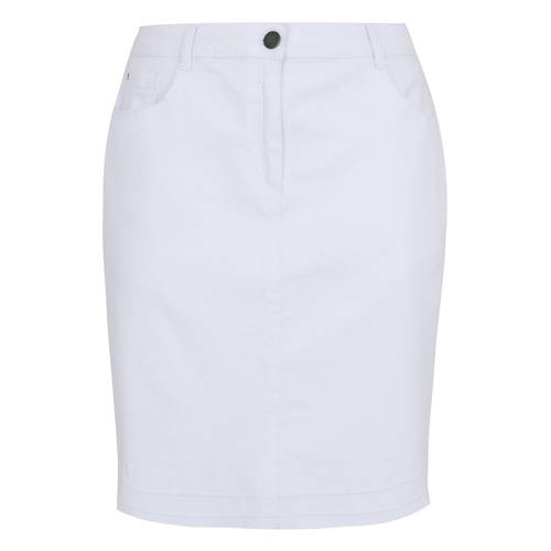 ΦΟΥΣΤΕΣ    Φούστα Denim Midi Λευκή - Μόδα σε μεγάλα μεγέθη  127c04fc69f
