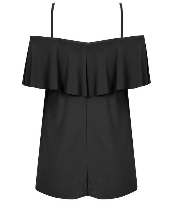 Μπλούζα Έξωμη Μαύρη με Βολάν Black_Slinky_Jersey_Frill_Bardot_Top_134353_1e3d Maniags
