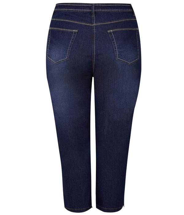 Τζιν Κάπρι Indigo Blue Ελαστικό Indigo_Blue_Cropped_Denim_Jeans_144145_f76b Maniags