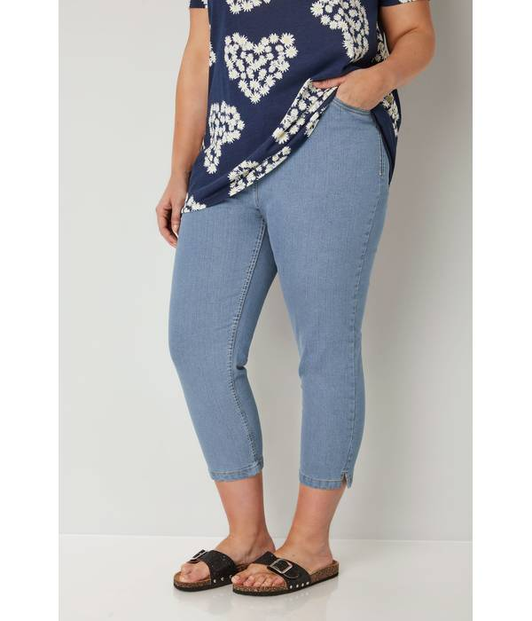 Τζιν Κάπρι Ελαστικό Light_Blue_Cropped_Denim_Jeans_144144_5b8d Maniags