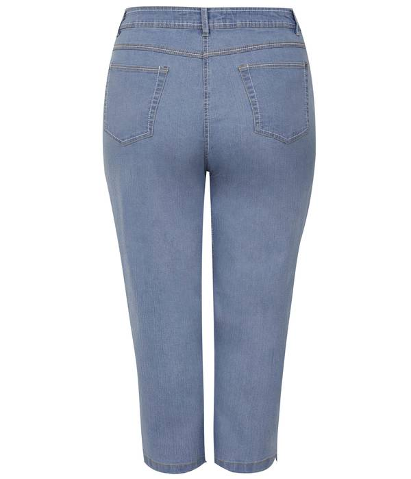 Τζιν Κάπρι Ελαστικό Light_Blue_Cropped_Denim_Jeans_144144_e490 Maniags