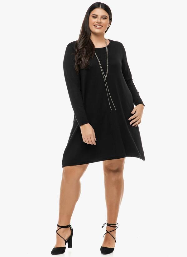 Φόρεμα Μαύρο Λεπτής Πλέξης Maniags
