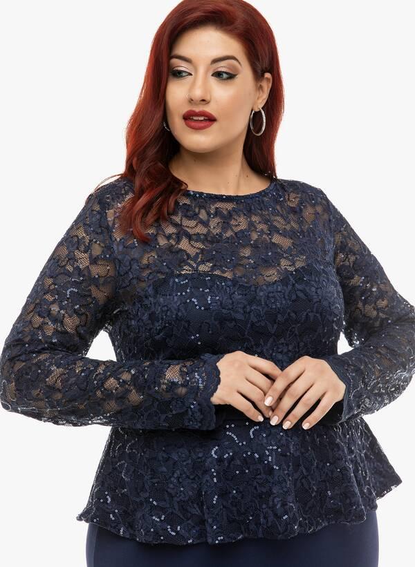 Φόρεμα Μάξι Navy με Δαντέλα 2019_12_11-Maniags4692 Maniags
