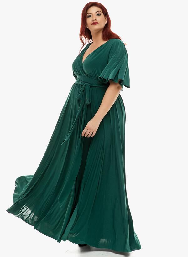 Φόρεμα Μάξι Ντραπέ Σμαραγδί 2019_12_11-Maniags4804 Maniags