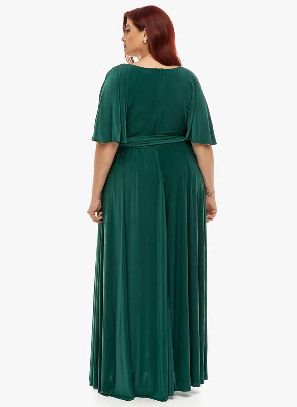 Φόρεμα Μάξι Ντραπέ Σμαραγδί 2019_12_11-Maniags4816 Maniags