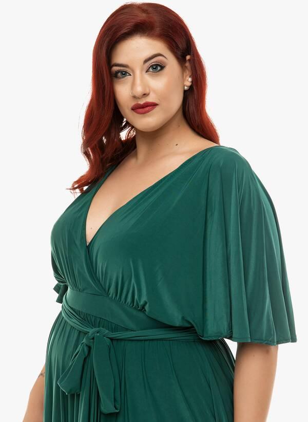 Φόρεμα Μάξι Ντραπέ Σμαραγδί 2019_12_11-Maniags4821 Maniags