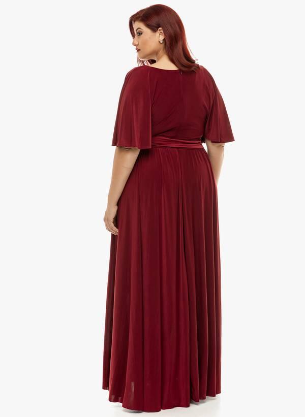 Φόρεμα Μάξι Ντραπέ Μπορντό 2019_12_11-Maniags4834 Maniags