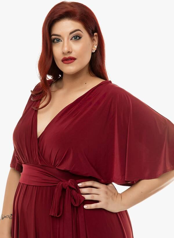 Φόρεμα Μάξι Ντραπέ Μπορντό 2019_12_11-Maniags4846 Maniags