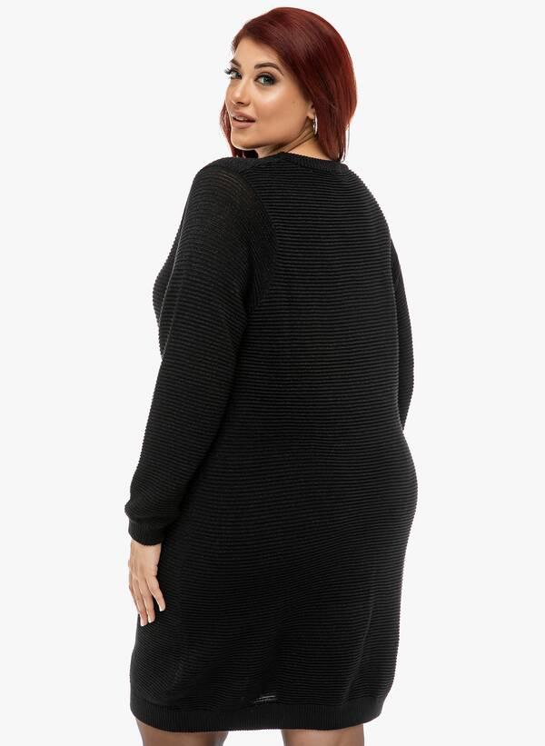 Μπλουζοφόρεμα Πλεκτό Μαύρο 2019_12_13-Maniags0222 Maniags