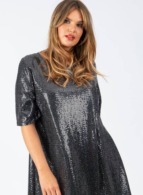 Φόρεμα Μίντι Lurex d5254_1_1 Maniags