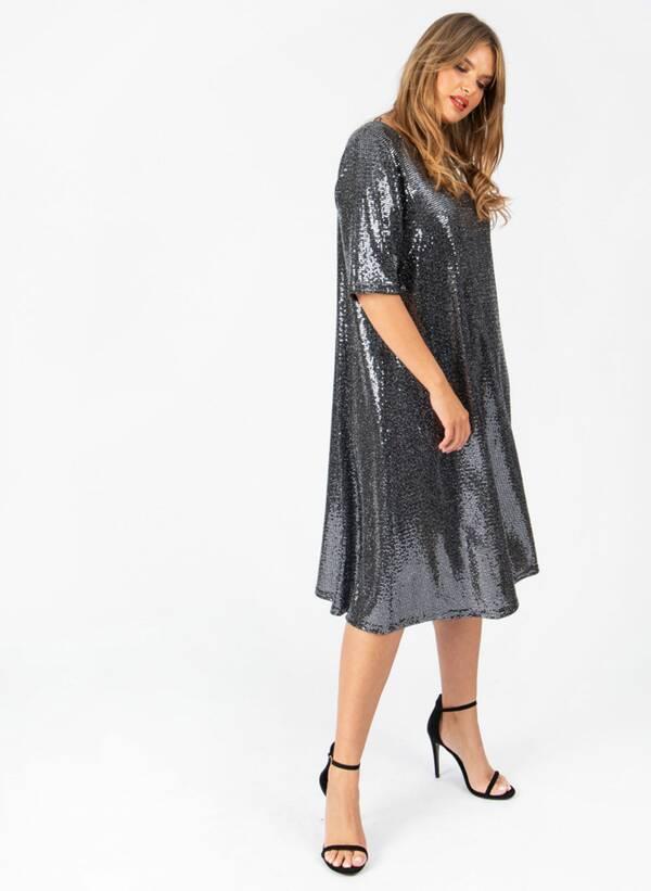 Φόρεμα Μίντι Lurex lovedrobesept19-416 Maniags