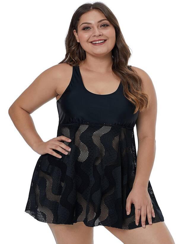 Τοπ Φόρεμα Μαγιό Μαύρο Maniags