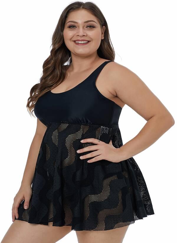 Τοπ Φόρεμα Μαγιό Μαύρο LC410917-2-3 Maniags