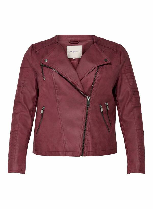 Biker Τζάκετ Faux Leather 15161651_Pomegranate_001_ProductLarge Maniags