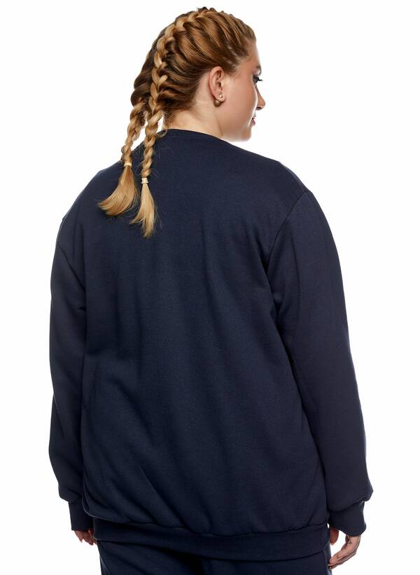 Μπλούζα Φούτερ Navy με Φλις Επένδυση 2021_01_25-Maniags2296 Maniags