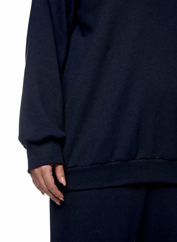 Μπλούζα Φούτερ Navy με Φλις Επένδυση 2021_01_25-Maniags2301 Maniags