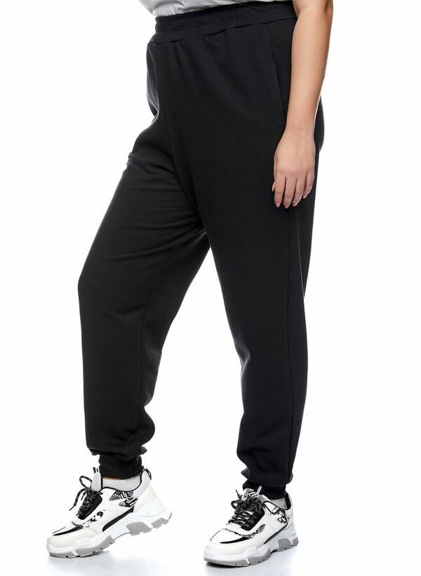 Παντελόνι Φόρμα Μαύρη με Φλις Επένδυση 2021_01_25-Maniags2410 Maniags