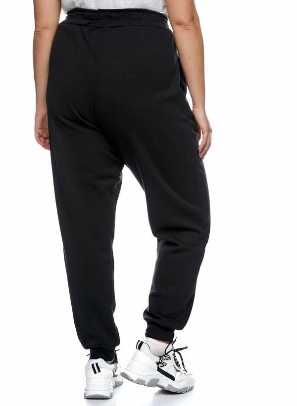 Παντελόνι Φόρμα Μαύρη με Φλις Επένδυση 2021_01_25-Maniags2412 Maniags