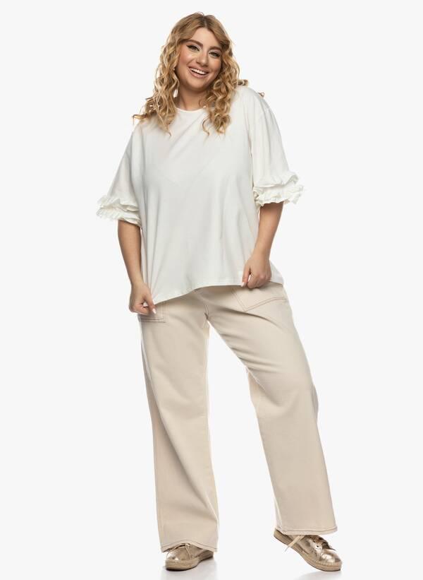 Μπλούζα με Βολάν στο Μανίκι Ιβουάρ 2021_03_26-Maniagz0800 Maniags