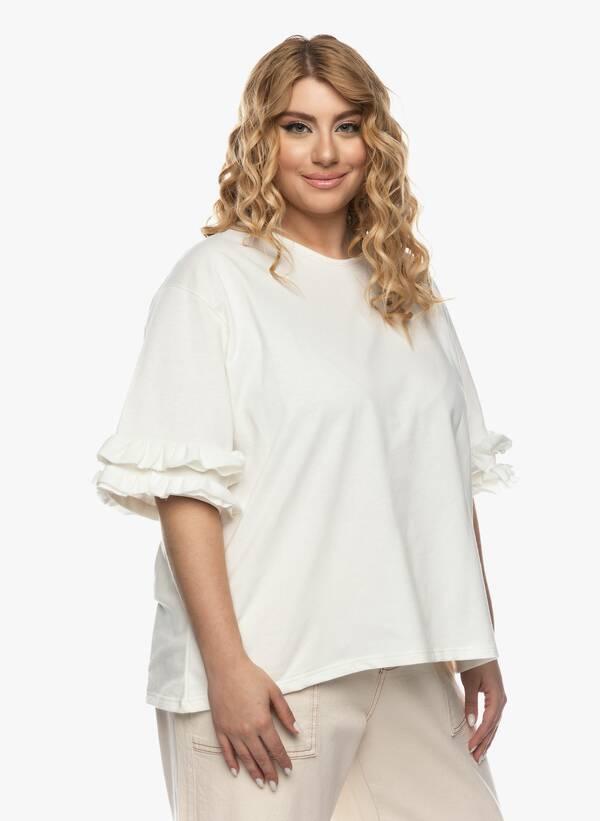 Μπλούζα με Βολάν στο Μανίκι Ιβουάρ 2021_03_26-Maniagz0823 Maniags