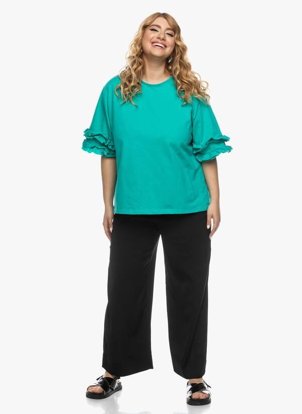 Μπλούζα με Βολάν στο Μανίκι Βεραμάν 2021_03_26-Maniagz1378 Maniags