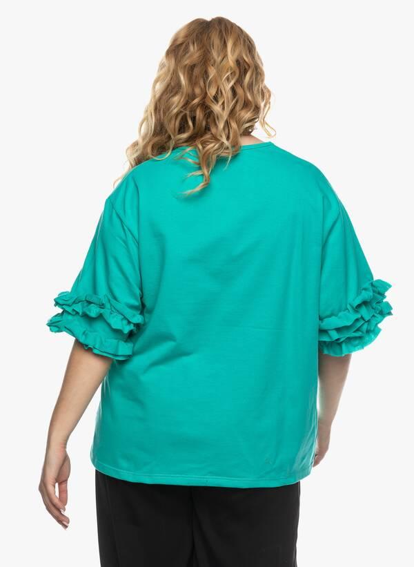 Μπλούζα με Βολάν στο Μανίκι Βεραμάν 2021_03_26-Maniagz1410 Maniags