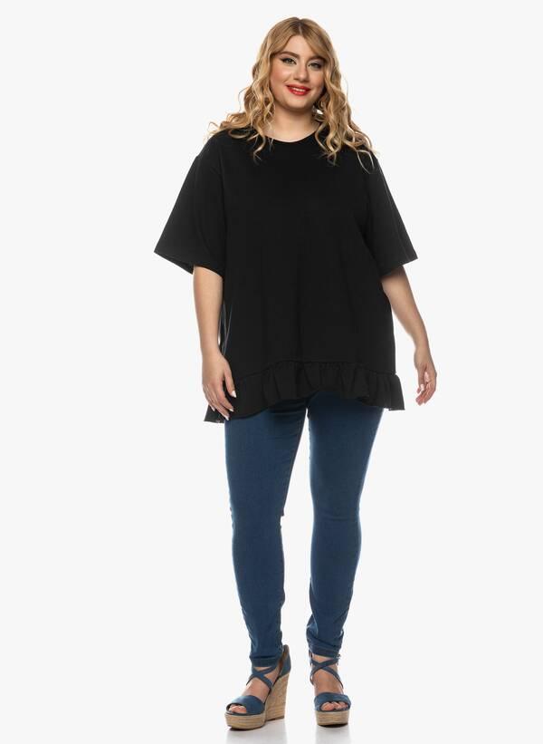 Μπλούζα με Βολάν στο Κάτω Μέρος Μαύρη 2021_03_26-Maniagz2625 Maniags