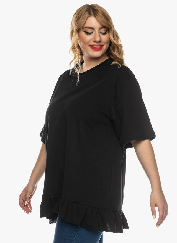 Μπλούζα με Βολάν στο Κάτω Μέρος Μαύρη 2021_03_26-Maniagz2645 Maniags