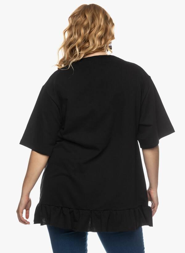Μπλούζα με Βολάν στο Κάτω Μέρος Μαύρη 2021_03_26-Maniagz2651 Maniags