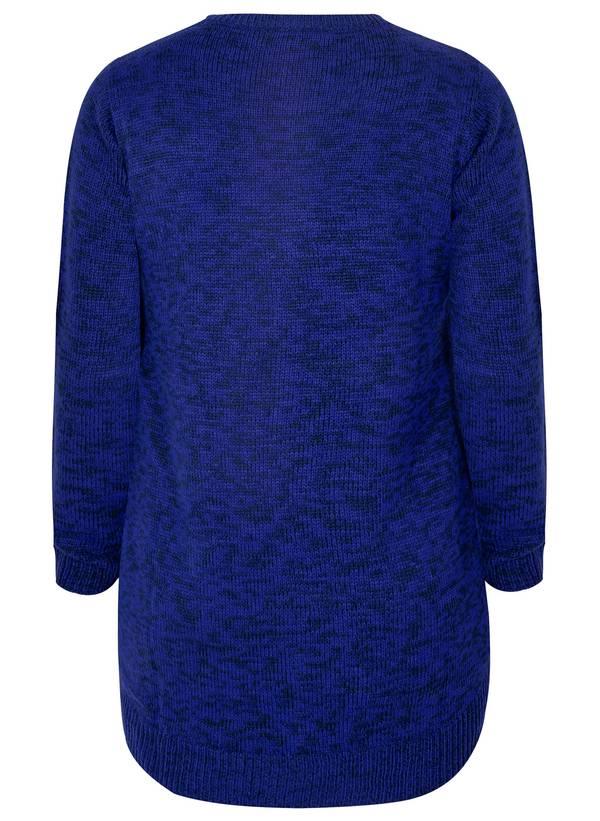 Μπλούζα Πλεκτή σε Μαύρο-Μπλε Χρώμα 50836_6 Maniags
