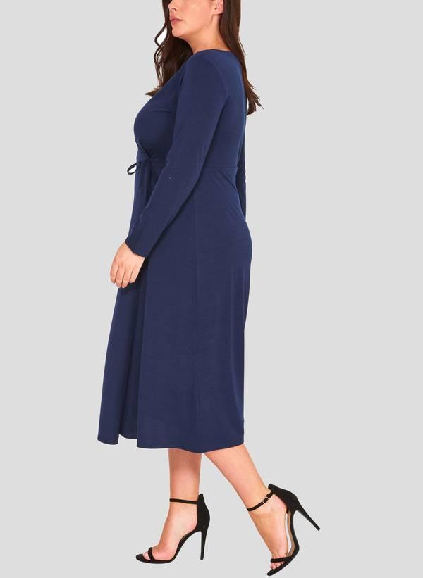 Φόρεμα Κρουαζέ Navy 50860_3 Maniags