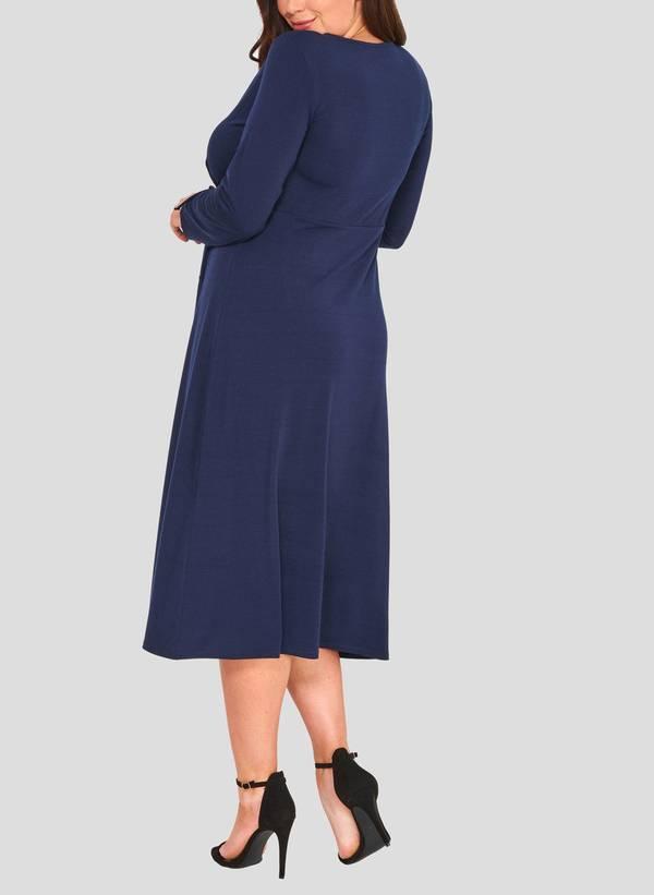 Φόρεμα Κρουαζέ Navy 50860_4 Maniags