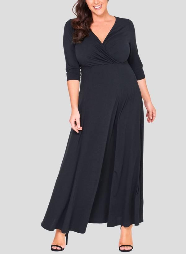 Φόρεμα Μάξι Ζέρσεϋ Κρουαζέ Maniags