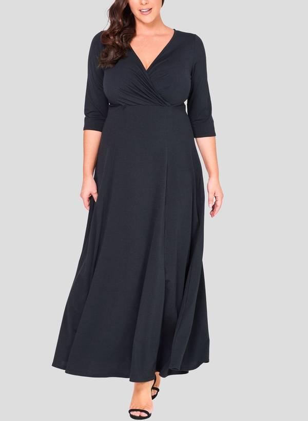 Φόρεμα Μάξι Ζέρσεϋ Κρουαζέ 50862_2 Maniags