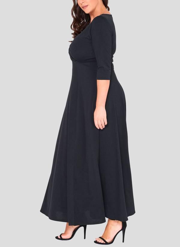 Φόρεμα Μάξι Ζέρσεϋ Κρουαζέ 50862_3 Maniags