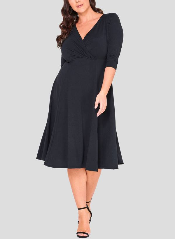 Φόρεμα Κρουαζέ 3/4 μανίκι 50863_2 Maniags