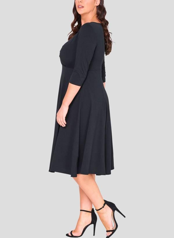 Φόρεμα Κρουαζέ 3/4 μανίκι 50863_4 Maniags