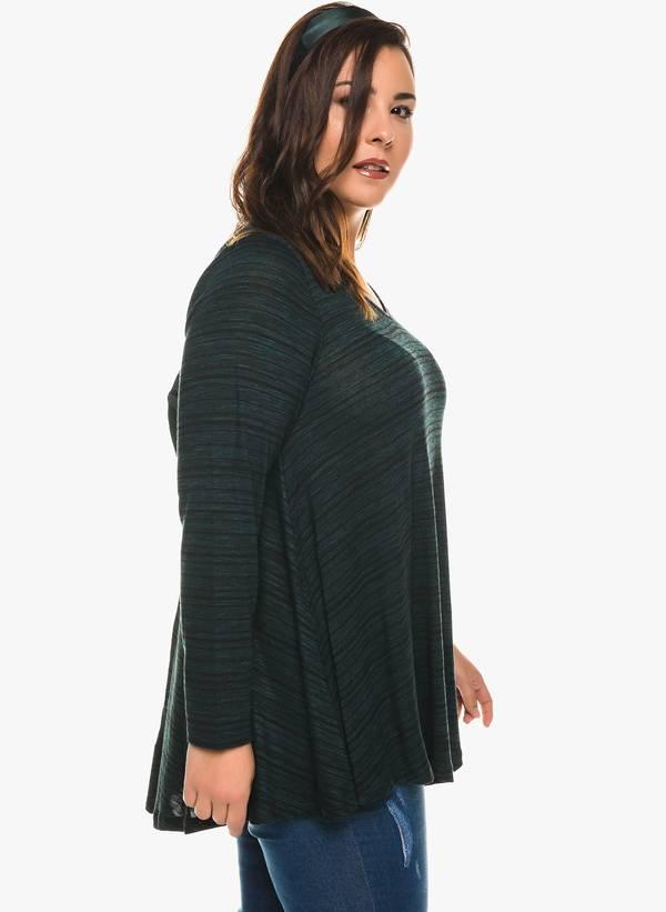 Ασύμμετρη Μπλούζα V Λαιμόκοψη (Πράσινη) 0126 Maniags
