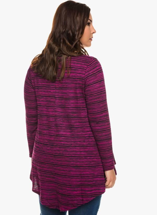 Ασύμμετρη Μπλούζα V Λαιμόκοψη (Ροζ Σκούρο) 0134 Maniags