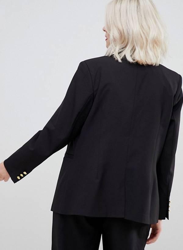 Μαύρο Σακάκι με Κουμπιά buttonBlazer_5 Maniags