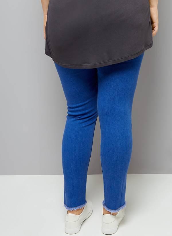 Jeggings Μπλε με Ξέφτια TR1623-BLUEDENIM-03 Maniags