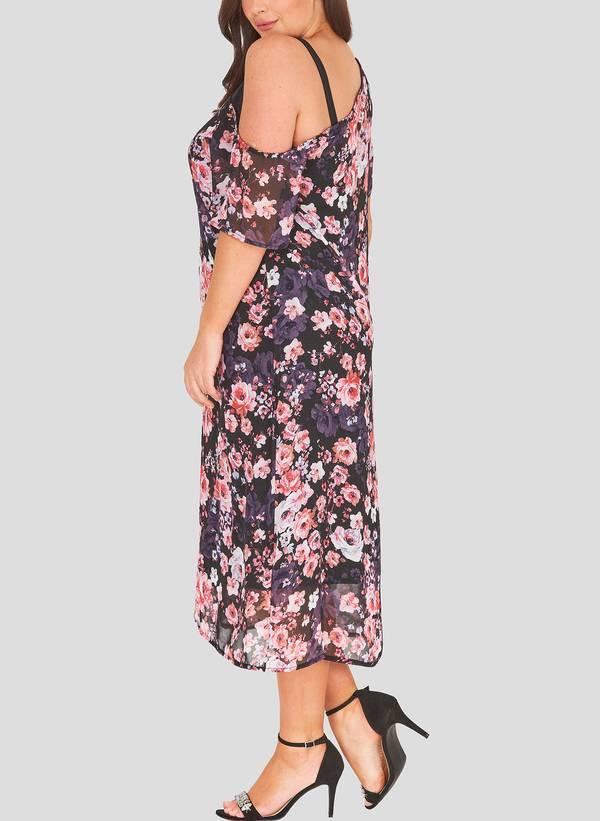 Φόρεμα Φλοράλ με Χαλαρό Ώμο havana_3 Maniags