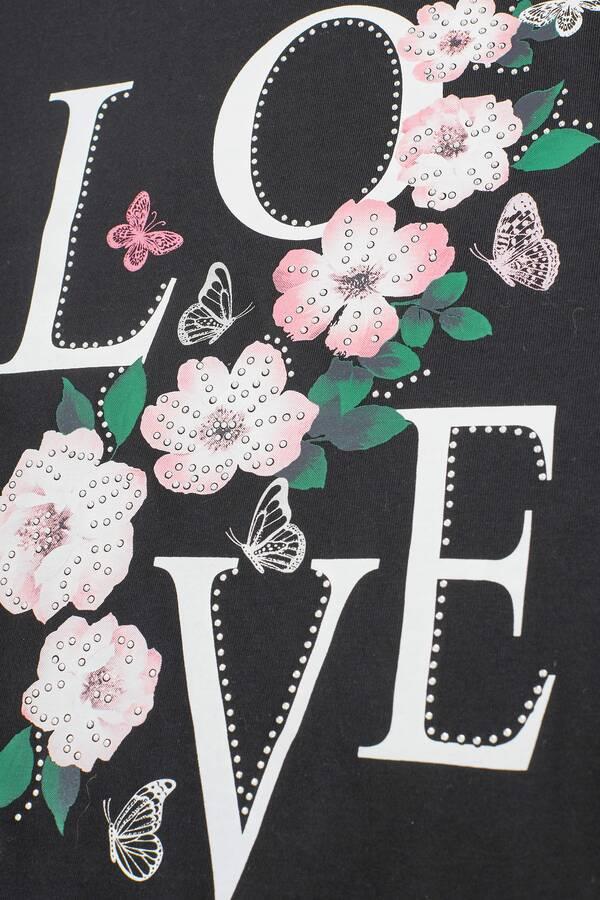 Μπλούζα Μαύρη με Τύπωμα Love 'Yours' Black_Hanky_Hem_T-Shirt_133184_b416 Maniags