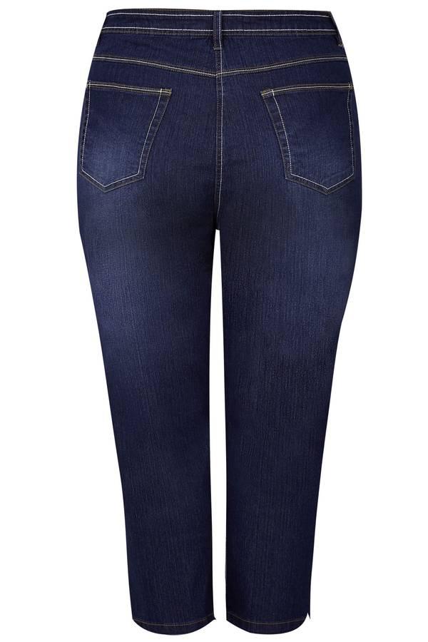 Τζιν Κάπρι Indigo Blue Ελαστικό Indigo_Blue_Cropped_Denim_Jeans_144145_f76b Maniags