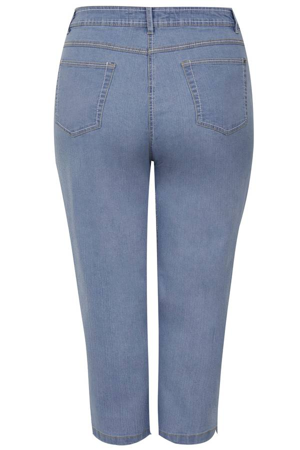 Τζιν Κάπρι Ελαστικό Light_Blue_Cropped_Denim_Jeans_144144_e490 Maniags